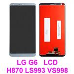 For LG G6 H870 H871 H872 LS993 VS998 US997 LCD Display Touch Glass lens Screen Digitizer Assembly * Silver/Light Gray-Blue
