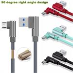 Samsung RIGHT ANGLE 3FT Micro USB phone Cable Data & Sync Faster Charge Cable LG , Motorola , HTC , Nokia , Huawei , ZTE # 90